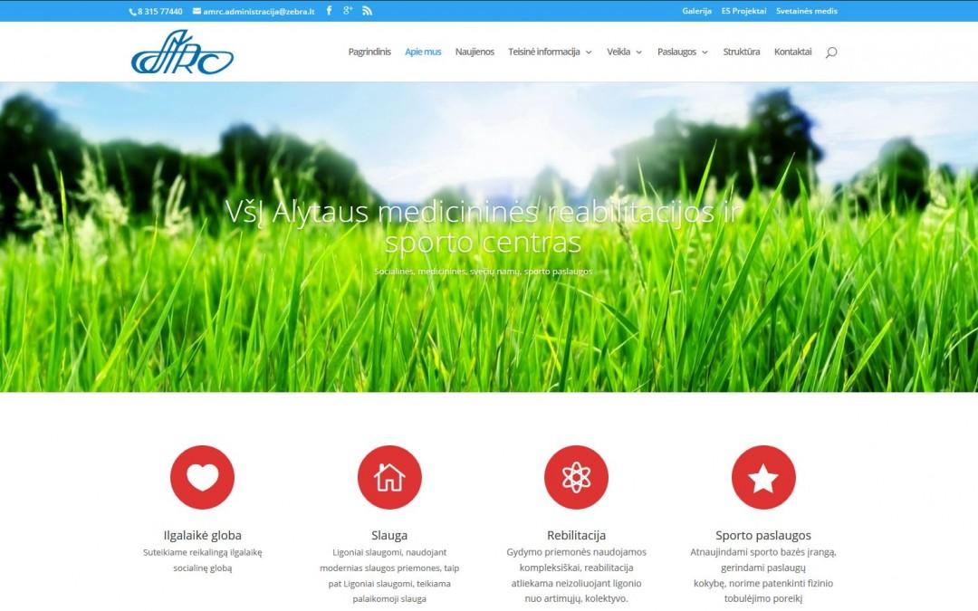 VšĮ Alytaus medicininės reabilitacijos ir sporto centro internetnio puslapio rekonstravimas
