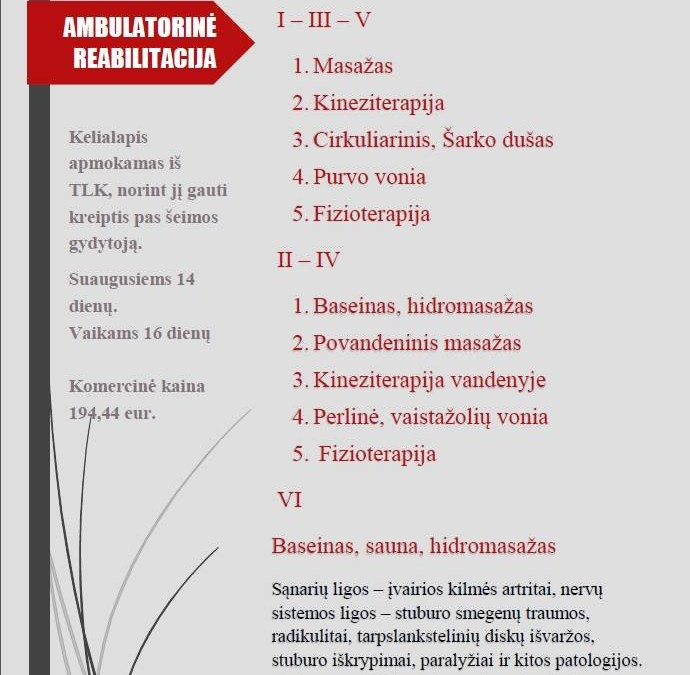 Ambulatorinė reabilitacija