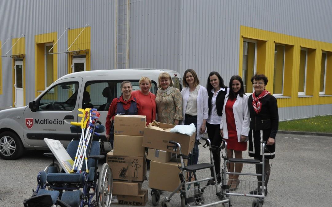 Maltos ordino pagalbos tarnybos Alytaus grupės ir Lietuvos Raudonojo kryžiaus draugijos Alytaus skyriaus parama